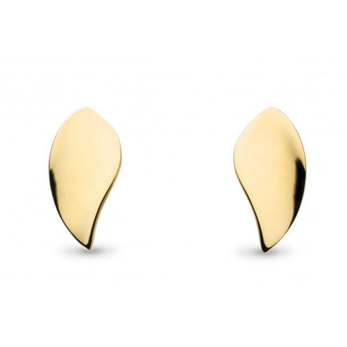 Kit Heath Earrings Kit Heath gold plated silver enchanted leaf stud earrings