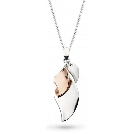 Kit Heath Pendant Kit Heath Silver and rose gold plated enchanted cluster leaf pendant