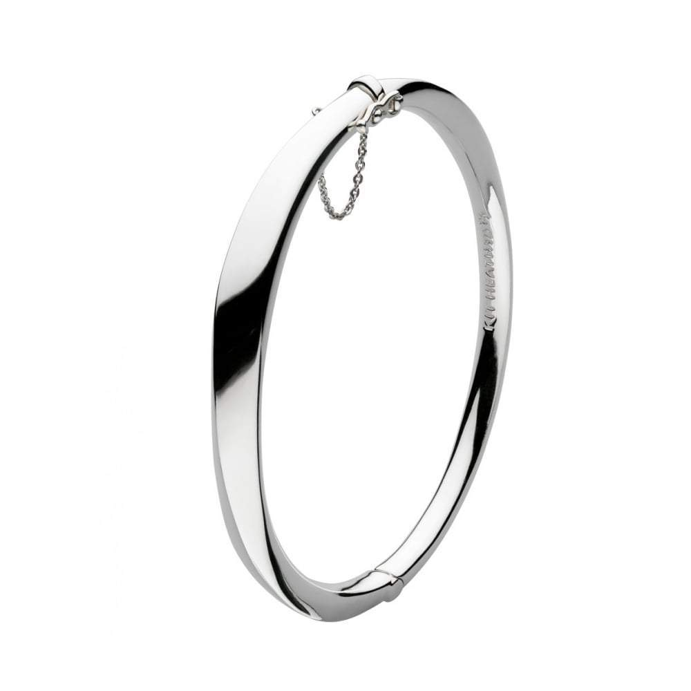 Kit Heath Bangle Kit Heath Silver bevel curve hinged bangle