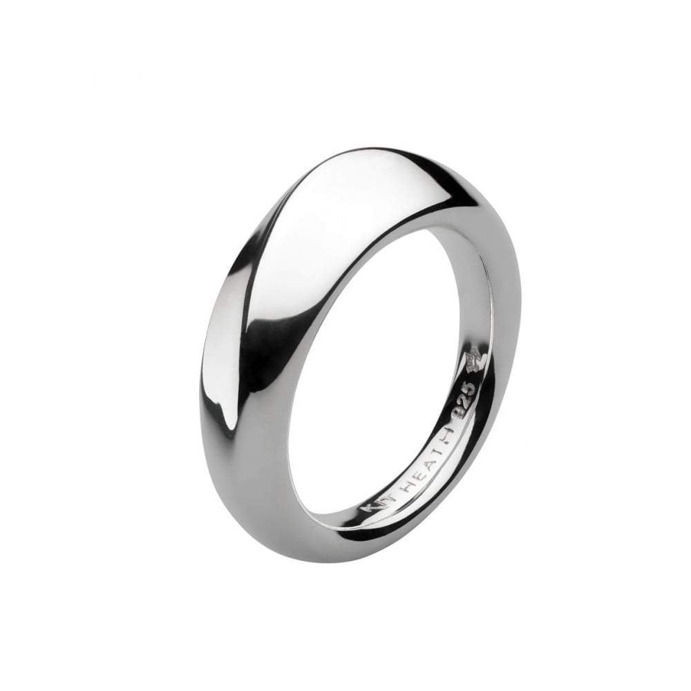 Kit Heath Ring Kit Heath Silver bevel wave ring