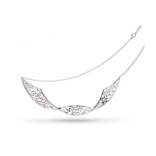 Kit Heath Necklace Kit Heath Silver blossom flourish double twist necklace