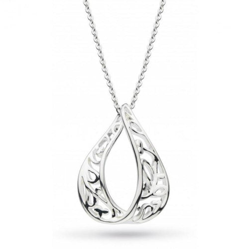 Kit Heath Pendant Kit Heath Silver blossom flourish teardrop pendant