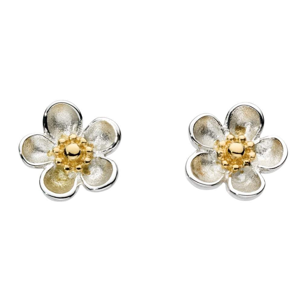 Kit Heath Earrings Kit Heath Silver Gold blossom woodrose studs