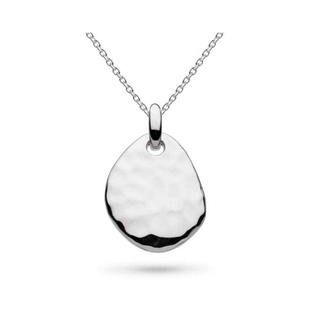 Kit Heath Necklace Kit Heath Silver hammered pebble necklace