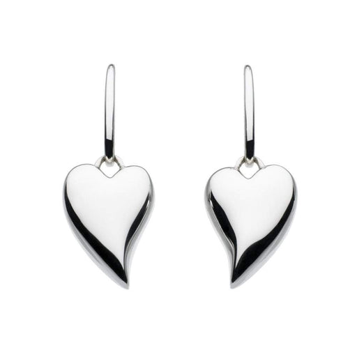 Kit Heath Earrings Kit Heath Silver lustful heart hook earrings