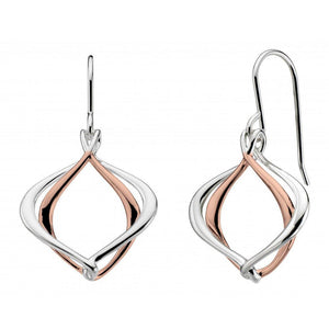 Kit Heath Earrings Kit Heath Silver rose gold alice hook earrings