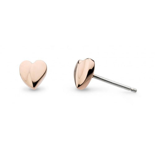 Earrings Kit Heath rose gold Silver miniature sweetheart stud earrings