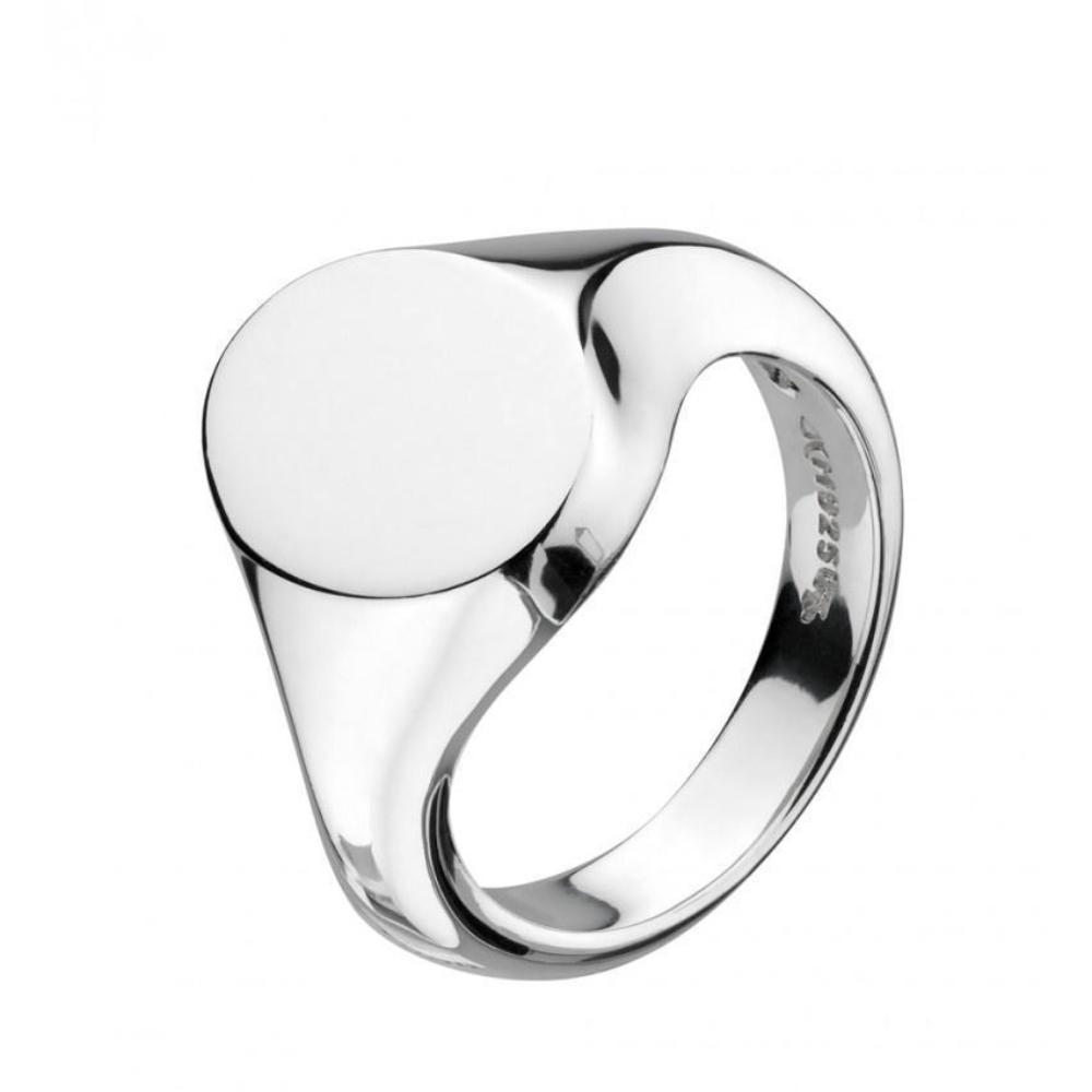 Ring Kit Heath Silver bevel curve heirloom signet ring