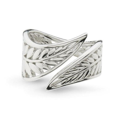Ring Kit Heath Silver blossom eden wrapped leaf ring