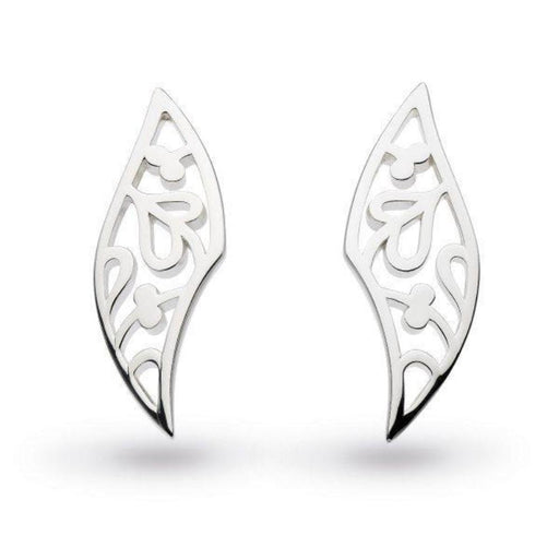 Earrings Kit Heath Silver blossom flourish small stud earrings