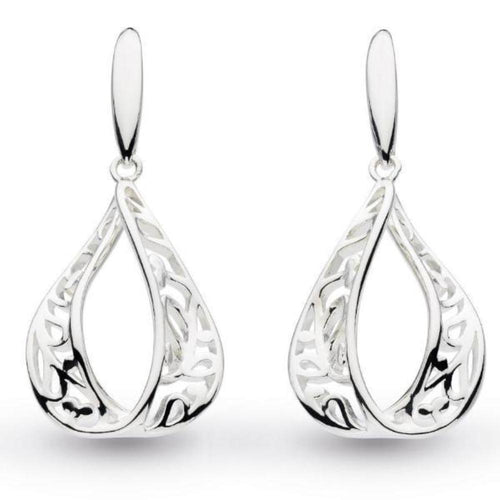 Earrings Kit Heath Silver blossom flourish teardrop hook earrings