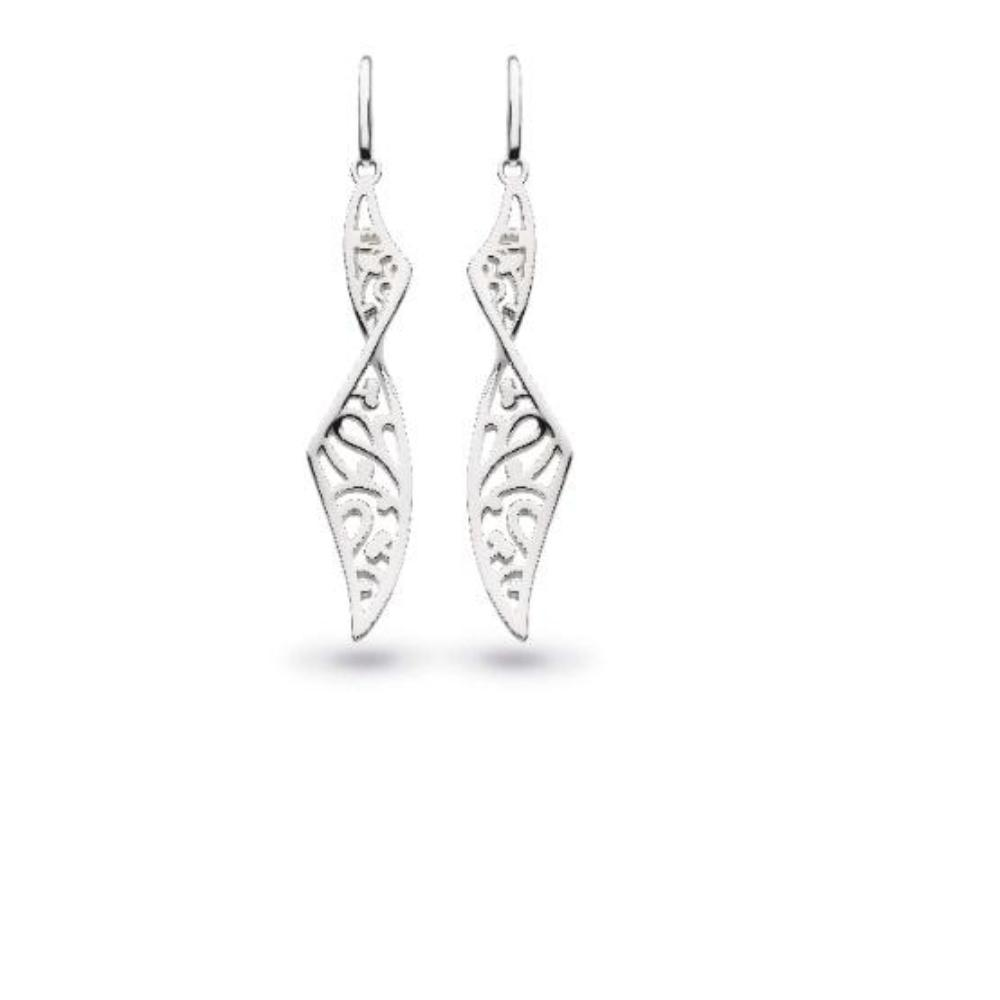 Earrings Kit Heath Silver blossom flourish twist drop earrings