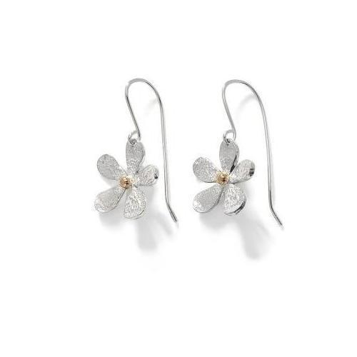 Linda Macdonald Earrings Linda Macdonald Silver 9ct daisy drops