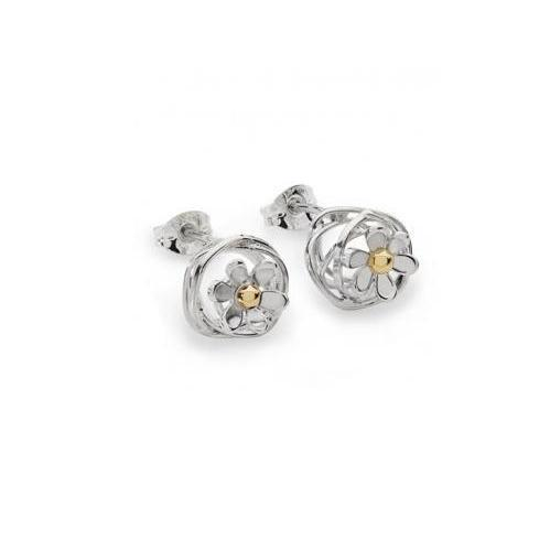 Linda Macdonald Earrings Linda Macdonald Silver 9ct scribbles studs