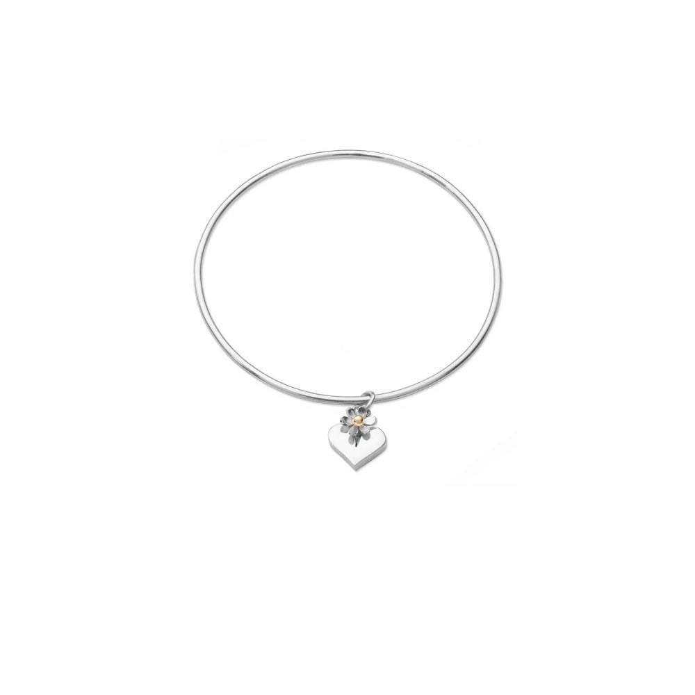 Linda Macdonald Bangle Linda Macdonald Silver hearts and flowers bangle