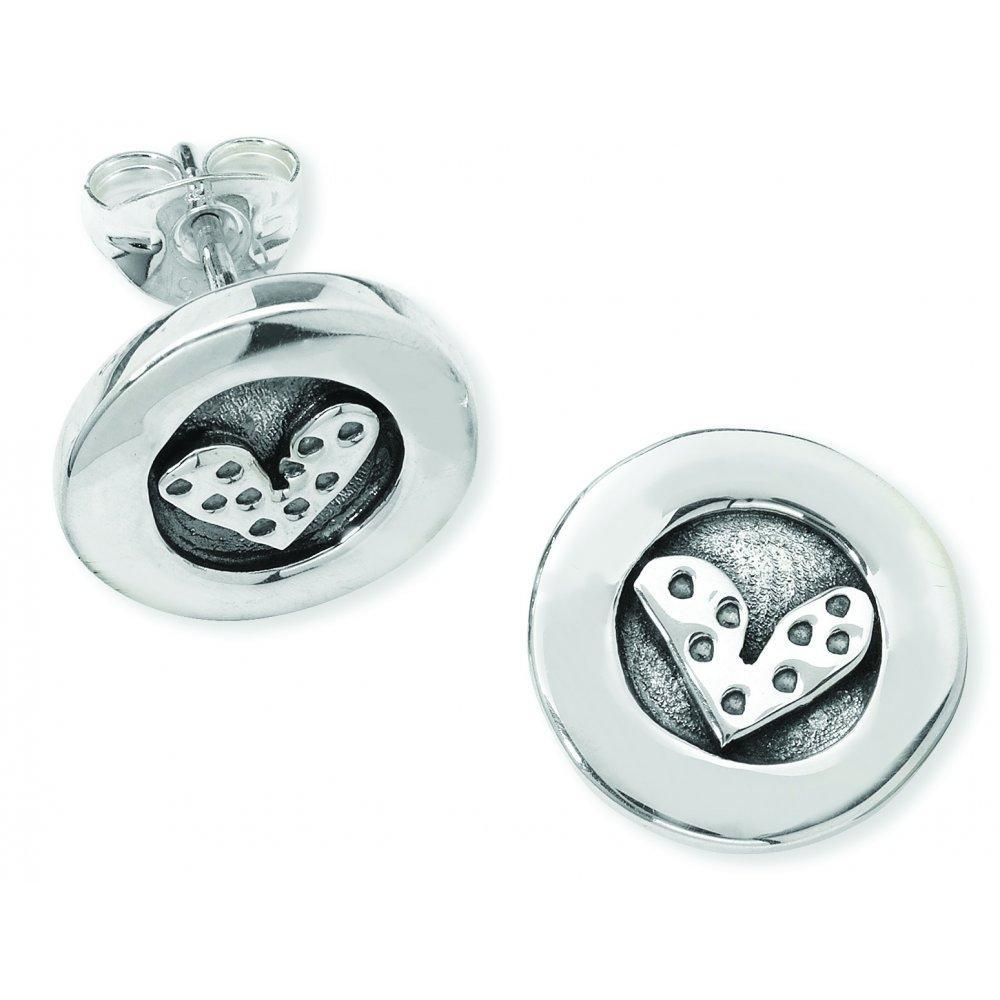 Linda Macdonald Earrings Linda Macdonald Silver petite dotty heart studs
