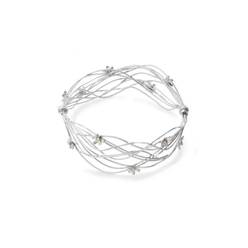 Linda Macdonald Bangle Linda Macdonald Silver scribble bangle