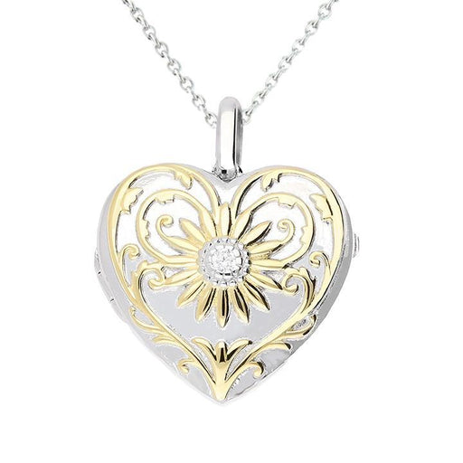 Lola Locket Locket Lola Locket Silver and yellow gold Darcy heart locket