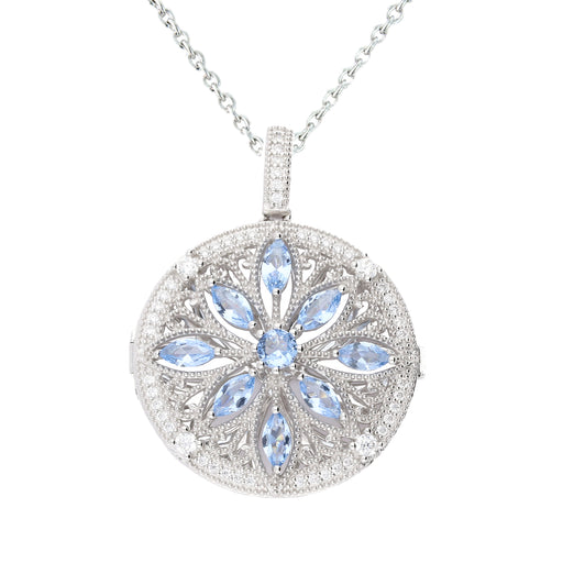 Lola Locket Locket Lola Locket Silver blue Aerin locket