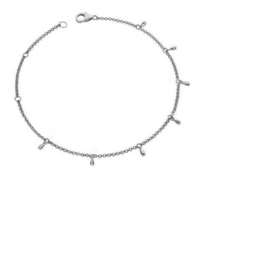 Anklet Lucy Q Silver multi drip anklet