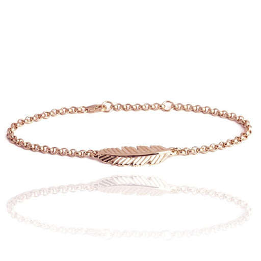 Muru Bracelet Muru rose gold plated Silver feather bracelet