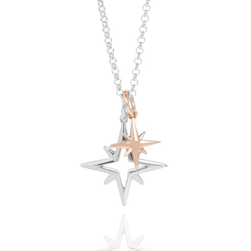 Muru Pendant Muru Silver and rose gold plated Silver My little star double pendant