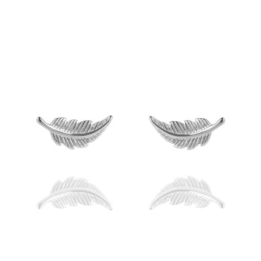 Muru Earrings Muru Silver  feather stud earrings