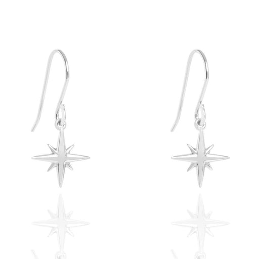 Muru Earrings Muru Silver star hook earrings