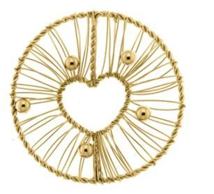 Coin My iMenso gold wire heart 33mm insignia