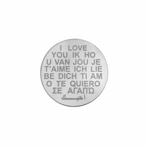 My Imenso Coin My iMenso Silver I love you 33mm insignia