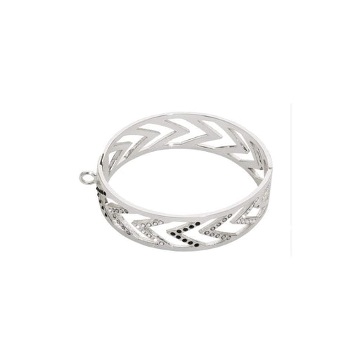 Nikki Lissoni Bangle Nikki Lissoni Silver CZ  chevron charm bangle