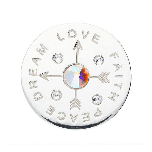 Nikki Lissoni Coin Nikki Lissoni Silver love peace medium coin  C1604SM