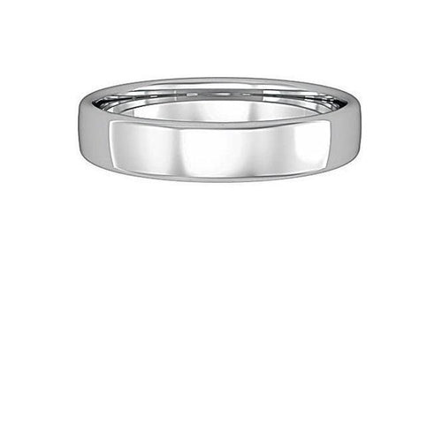 Ring Palladium 4mm bombe court band