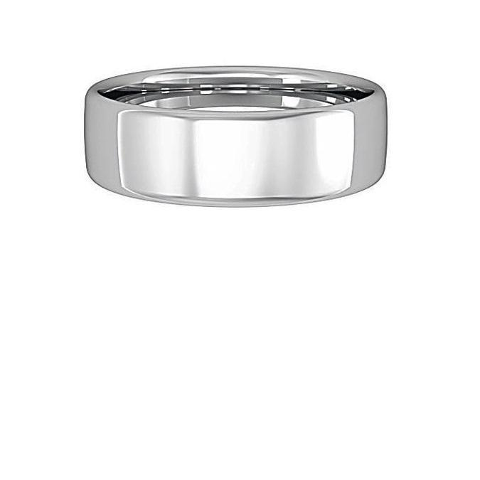 Ring Palladium 6mm bombe court band