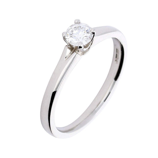 Ring Platinum 0.31ct  brilliant diamond ring