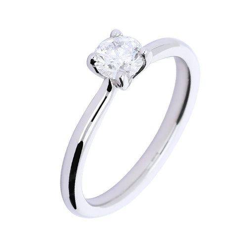 Ring Platinum 0.50ct brilliant Diamond four claw ring