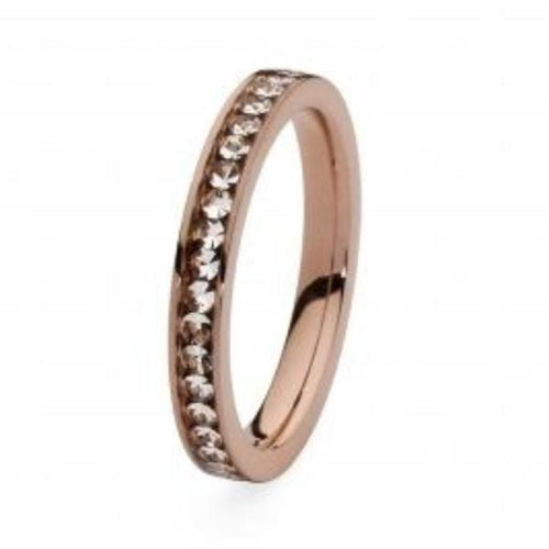 Qudo Composable Rings Ring Qudo rose gold plated steel and swarovski nueva deluxe spacer ring