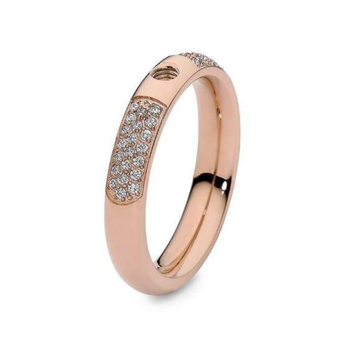 Qudo Composable Rings Ring 52 Qudo slim deluxe interchangable ring band with cubic zirconia
