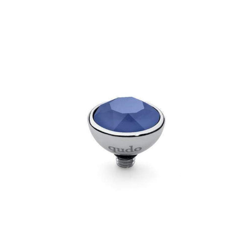 Qudo Composable Rings Ring Qudo Steel and royal blue swarovski 10mm bottone ring top