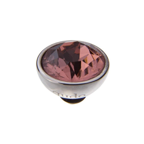 Qudo Composable Rings Ring Qudo Steel blush rose swarovski 10mm bottone ring top
