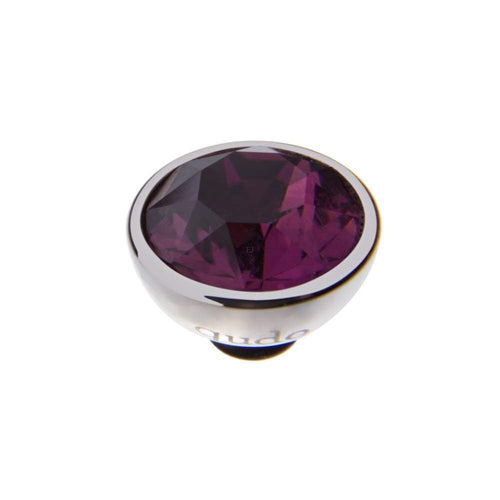 Qudo Composable Rings Ring Qudo Steel dark amethyst swarovski 10mm bottone ring top