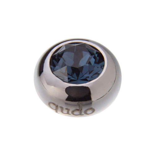 Qudo Composable Rings Ring Qudo Steel montana swarovski 10mm tondo ring top