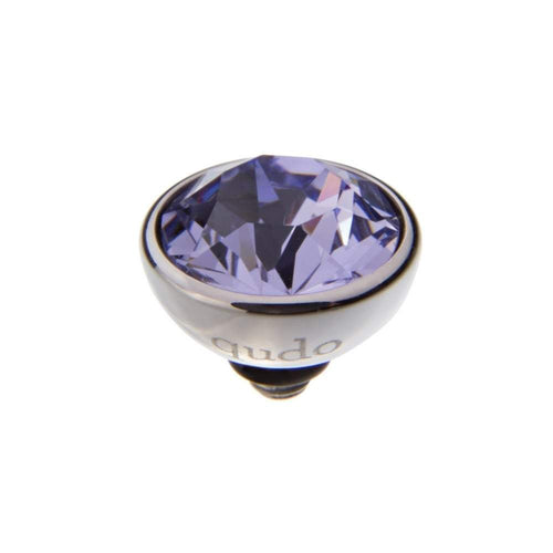 Qudo Composable Rings Ring Qudo Steel provence lavender swarovski 10mm bottone ring top