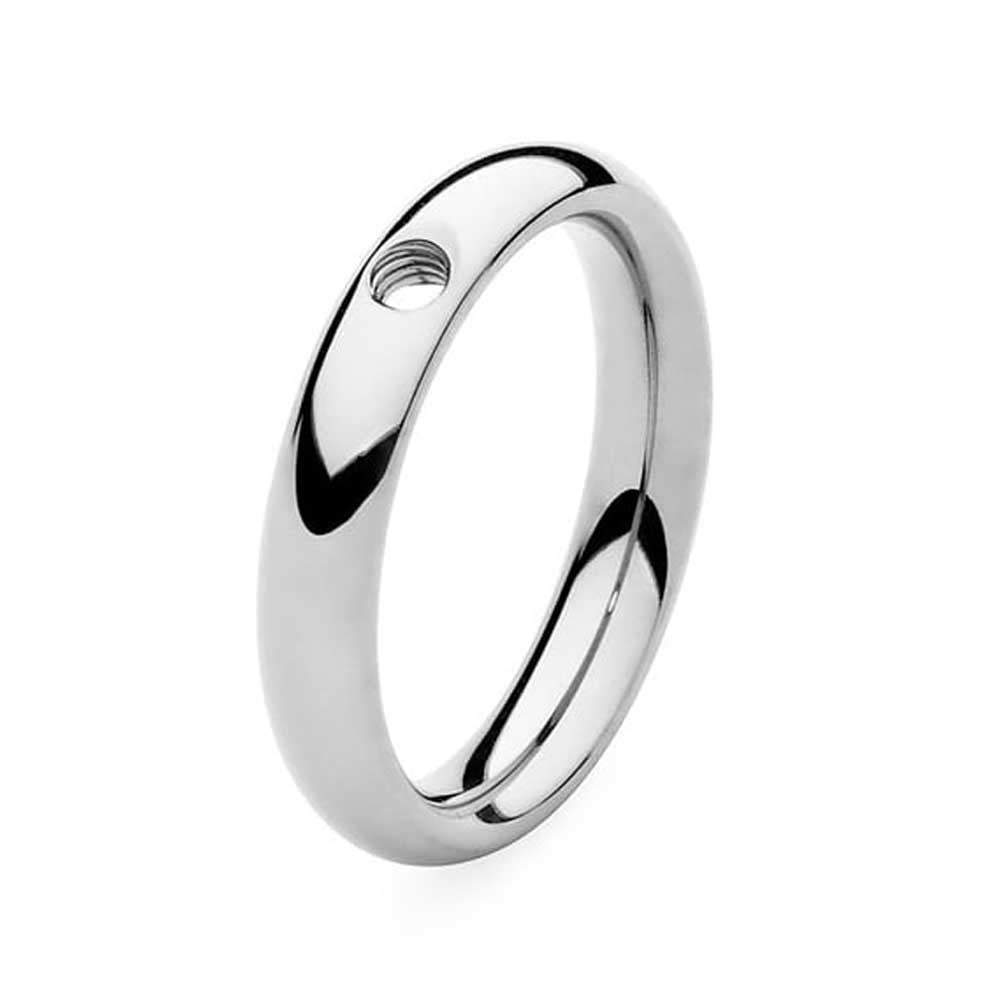 Qudo Composable Rings Ring Qudo Steel slim interchangable ring band