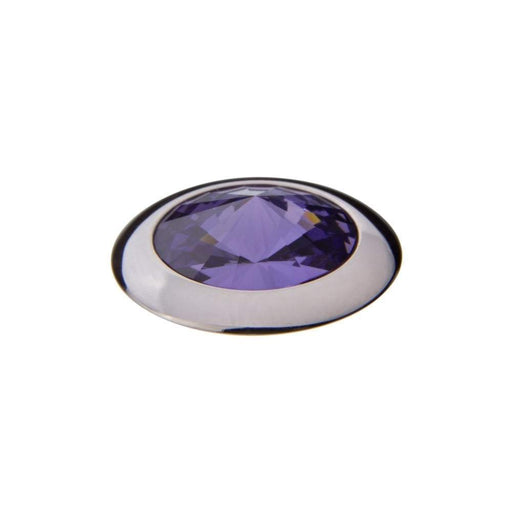 Qudo Composable Rings Ring Qudo Steel tanzanite swarovski 16mm tondo ring top