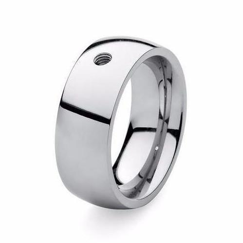 Qudo Composable Rings Ring Qudo Steel wide interchangable ring band