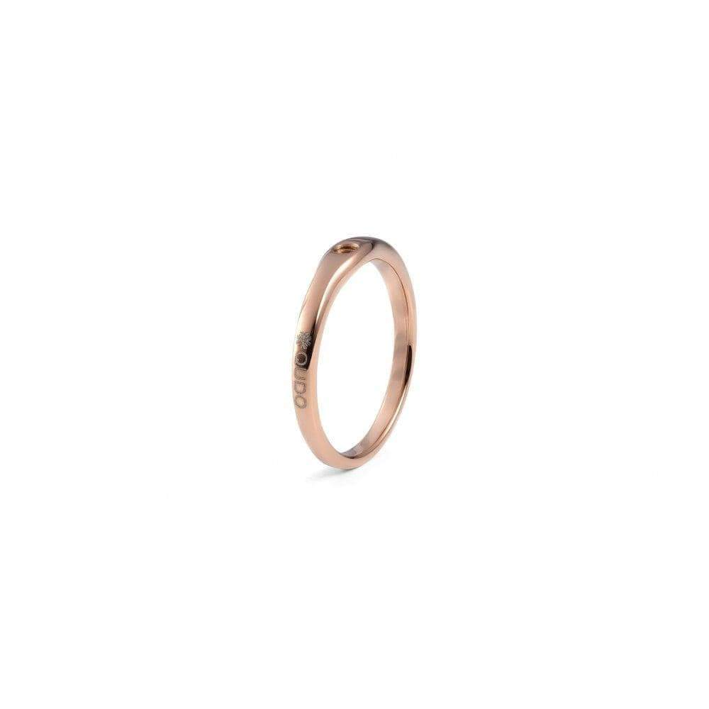 Ring Qudo rose gold plated steel fine interchangable ring band