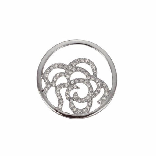 Quoins Coin Quoins Steel Swarovski glossy rose coin