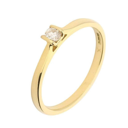 Rock Lobster Ring 18ct Gold betty ring with a 0.14ct brilliant diamond
