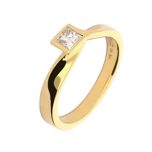 Rock Lobster Ring 18ct Gold princess cut diamond ring